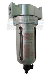 """1/4"""" MID FLOW MOISTURE TRAP WATER SEPARATOR PARTICULATE FILTER FOR COMPRESSED"""