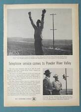 Orig 1957 Bell Telephone Ad Photo Endorsed by Linesman Darrell Perry of Oregon