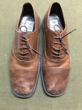 Carlo Morandi  Men's Brown Leather Dress Shoes  Size 13 Made in Italy