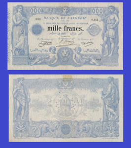 Algeria 1000 francs 1918 UNC - Reproduction