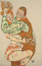 Egon Schiele Lovemaking 8x5 inch Print