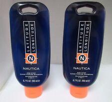 Nautica Latitude Longitude One Step Conditioning Shampoo **LOT of 2** 6.7 oz ea