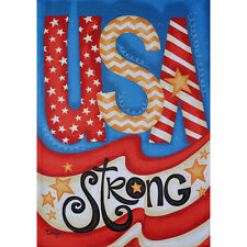 "USA STRONG 12.5"" X 18"" GARDEN FLAG 27-2919-233 FLIP IT! RAIN OR SHINE SUMMER"