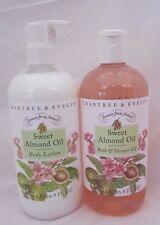 Crabtree & Evelyn 16.9 fl oz Bath / Shower Gel & Body Lotion Sweet Almond Oil