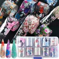 Flower Transfer Nail Foil Manicure Decor Holographic Decals Nail Art Stickers Sy