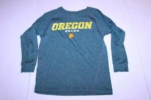 Youth Oregon Ducks S (8) L/S Athletic Shirt (Green) Adidas
