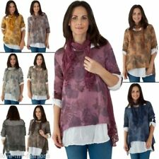 Maglie e camicie da donna maniche a 3/4 grigi casual