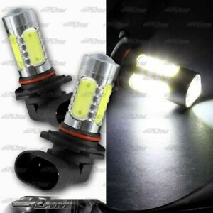 2x 9005 HB3 16W 10 LED White Projector Daytime Running Light Bulbs Universal 2