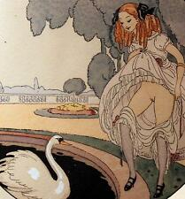 Erotic Art Woman Nude Swan Wegener 1925 Les Delassements d'Eros 9x8 Inch Print