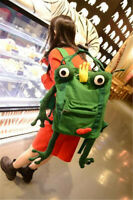 Uzumaki Naruto Frog Shape School Bag Cute Cartoon Backpack Travel Handmade Gift