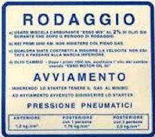TARGHETTA RODAGGIO KIT 10 PEZZI per PIAGGIO VESPA 50 90 125 PRIMAVERA ET3 V5A1