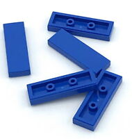Lego 5 New Blue Tiles 1 x 3 Flat Smooth Pieces Parts
