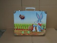 Ancienne petite valise mallette en metal bugs bunny elmer Warner 1985 vintage