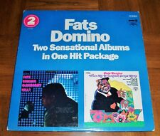 FATS DOMINO -TWO SENSATIONAL LPS IN 1 HIT PKG-BLUEBERRY HILL-WHEN MY DREAMBOAT..