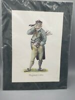 """Norman Orr Golf Art Print """"Disgusted Caddie"""" New Old Stock Vtg 1970's Scotland"""