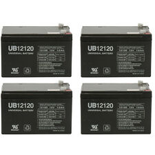 UPG 4 Pack - 12V 12Ah F2 SEALED LEAD ACID AGM DEEP-CYCLE RECHARGEABLE BATTERY