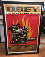 Shepard Fairey Print And Destroy Signed Rare Street 24x36 Lithograph Obey giant