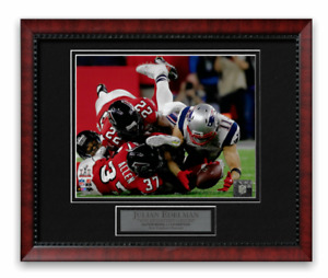 "Julian Edelman ""Catch"" Unsigned Photo Custom Framed to 11x14 Super Bowl Patriots"