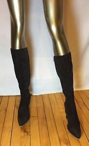 L'AUTRE CHOSE ITALY Designer Brown Knee High Suede Wedge Boots Sz 38