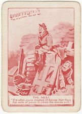 Playing Cards 1 Swap Card Old Antique Wide Bairnsfather WW1 OLD BILL THE NEST 4
