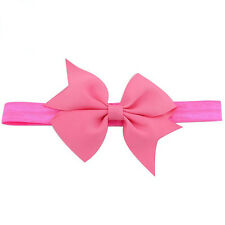 New Baby kid Girl Toddler Hair Bow Grosgrain Ribbon Boutique Hair Band Headband