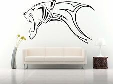 Wall Room Decor Art Vinyl Sticker Mural Decal Tribal Panther Leopard Puma FI547