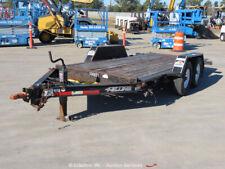 2012 Felling Ft-12 Equipment Utility Flat Deck Tilt Trailer Tandem Axle bidadoo