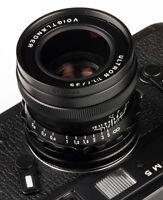 Voigtlander USA WARRANTY 35mm f/1.7 Ultron Asph Leica M Black  Free Next Day