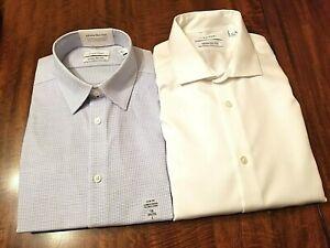 Two NWT Calvin Klein LS dress shirts. Sz. 16 34/35. 100% cotton