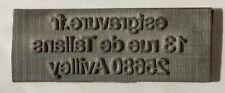 Empreinte TAMPON TRODAT PRINTY 4910 adhésive Plaque de texte 26 x 9 mm