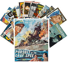 Postcards Pack [24 cards] War Ships and Planes WWII Vintage Movie Poster CC1073