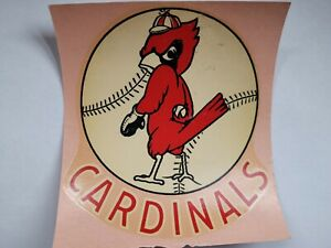 St. Louis Cardinals Baseball Vintage Original 1950 Decal Sticker Collectors RARE