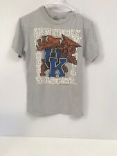 Vintage kentucky wildcats gray t shirt youth small kids college basketball