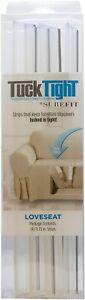 NEW SureFit Loveseat Sofa Slipcover 4 Grip Strips PVC Tuck Tight Clear