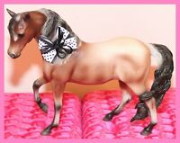 ❤️Breyer Horse Traditional Model Marabella Lindsay's Faith #1704 Roan Mustang❤️