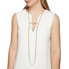 Mimco Trance Necklace MINT & Gold Pouch