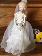 "Music Box Barbie Porcelain Blonde Bride's Dream 1996 ""True Love"" Enesco"