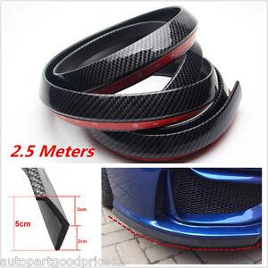 2.5M Car Front Bumper Lip Splitter Spoiler Skirt Body Kit Carbon Fiber Protector