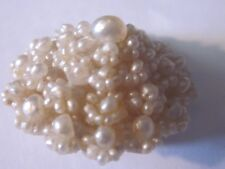 Beautiful Rare Handcrafted Antique Victorian Seed Pearl Pin