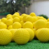 20Pcs PU Foam Elastic Sponge Practice Golf Balls Outdoor Playing Training Yellow