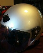 HARLEY DAVIDSON Woman Grey Small Motorcycle Helmet w/Visor