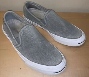 Converse Jack Purcell Gray Slip On Shoes Mens 8 Womens 10