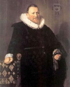 Oil painting frans hals - nicolaes woutersz van der meer old man standing canvas