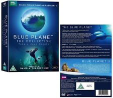 THE BLUE PLANET I 2001 + II 2017: David Attenborough Series Collection  - UK DVD