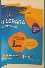 NEW Lebara PAYG Nano/Micro/Standard Triple Cut UK SIM. 5GB Pre-paid internet