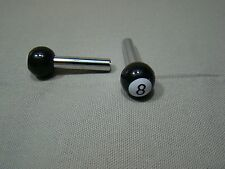 new black and white 8 ball door lock knob pull stem button set of 2 eight ball