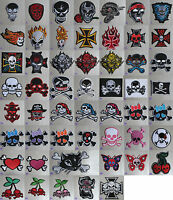 Skull/ Cross Iron On/ Sew Patch Badge skeleton goth gothic lolita emo punk rock
