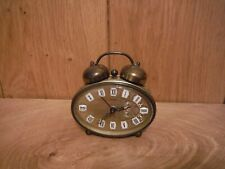 Anker West Germany Vintage small Brass Alarm Clock non working (G020)