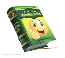 new Gánate una Carita Feliz hardcover Miniature Book en Español libro niños