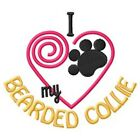I Heart My Bearded Collie Ladies Short-Sleeved T-Shirt 1294-2 Size S - XXL